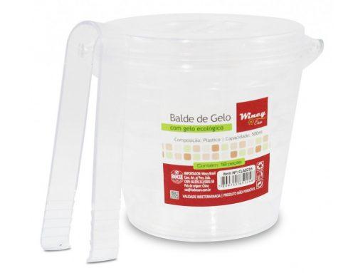 balde de gelo 500ml com pegador e gelo ecológico