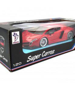 Brinquedo Carrinho Com Controle Super Carros Vermelho