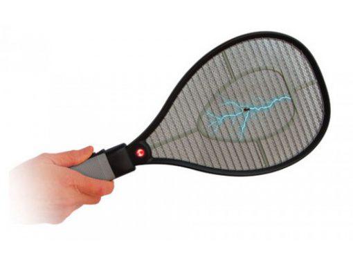 Raquete Elétrica Recarregável Mata Mosquito Verde